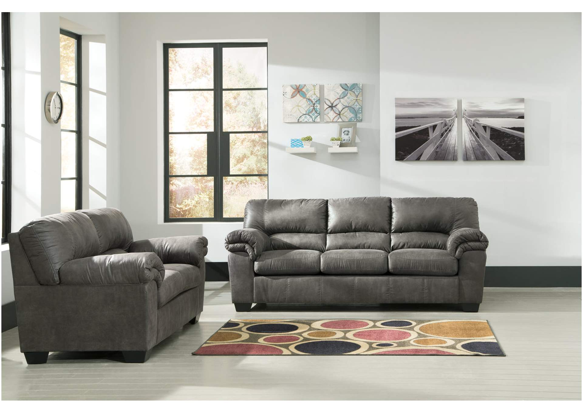 Bladen Slate Sofa and Loveseat,Signature Design By Ashley