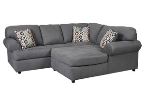 Jayceon Steel Right Facing Chaise End Sectional