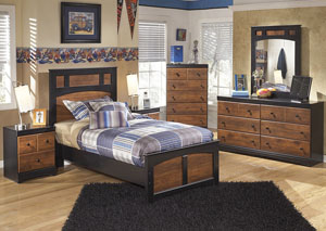 Aimwell Full Panel Bed w/Dresser & Mirror