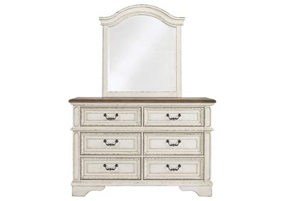 Realyn Chipped White Youth Dresser w/Mirror