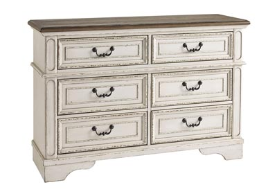 Realyn Chipped White Youth Dresser