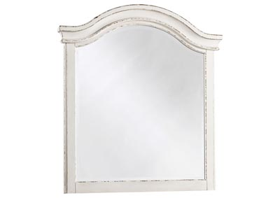 Realyn Chipped White Youth Mirror