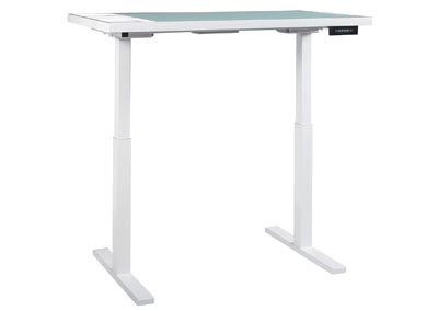 Baraga White Adjustable Height Desk