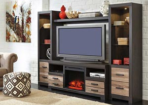 Harlinton Entertainment Center w/LED Fireplace Insert